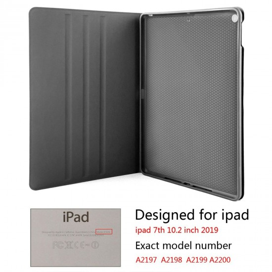 """Tom Petty IPad 7th Generation 10.2 Inch Multi-Angle Viewing Folio Smart Stand Cover Auto Wake/Sleep for IPad 10.2"""" Tablet"""