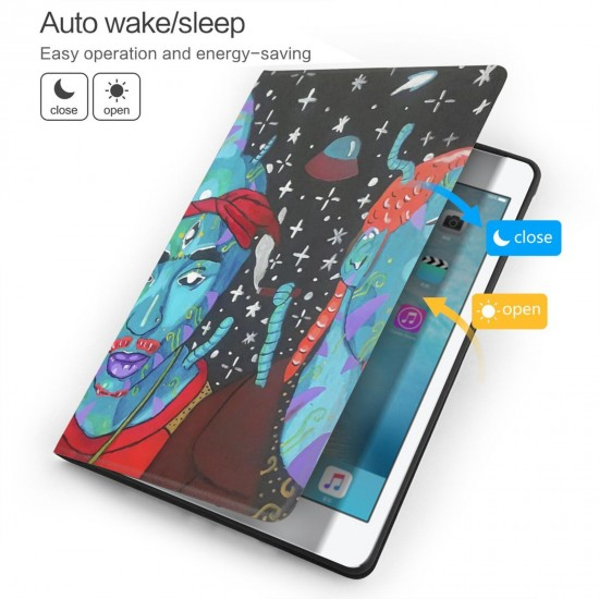 """Alien 2pac And Snoop IPad 7th Generation 10.2 Inch Multi-Angle Viewing Folio Smart Stand Cover Auto Wake/Sleep for IPad 10.2"""" Tablet"""