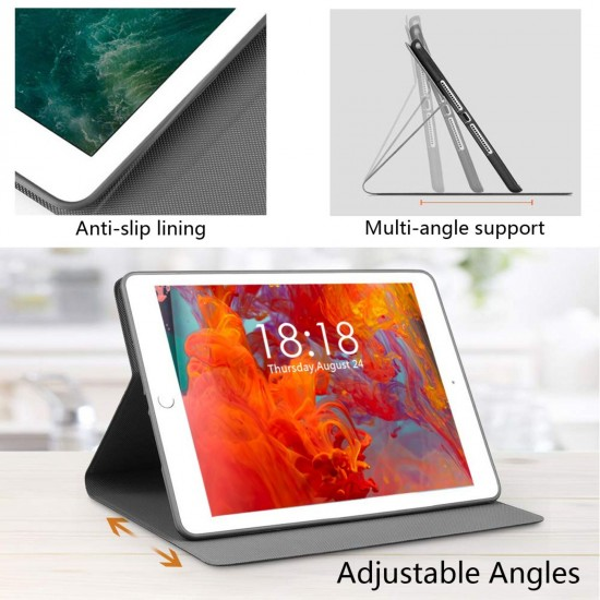 """Rammstein Gold IPad 7th Generation 10.2 Inch Multi-Angle Viewing Folio Smart Stand Cover Auto Wake/Sleep for IPad 10.2"""" Tablet"""