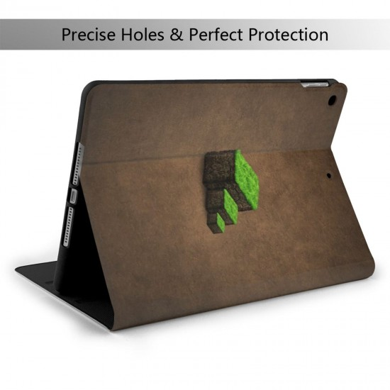 """Minecraft IPad 7th Generation 10.2 Inch Multi-Angle Viewing Folio Smart Stand Cover Auto Wake/Sleep for IPad 10.2"""" Tablet"""