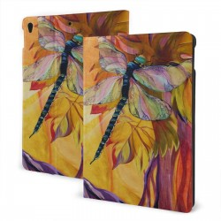 """Vineyard Fantasy Dragonfly IPad 7th Generation 10.2 Inch Multi-Angle Viewing Folio Smart Stand Cover Auto Wake/Sleep for IPad 10.2"""" Tablet"""